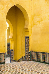 Pointed arches, Mausoleum of Moulay Ismail, Meknes, Morocco