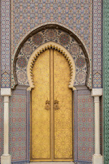 Gates of the Royal Palace. Fez, Morocco