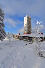 Foto Asenturm im Winter im Fichtelgebirge am Ochsenkopf