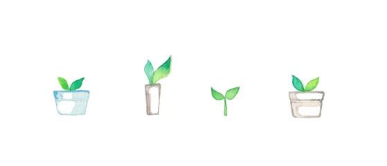 グリーンの葉っぱ4種