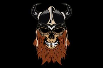 Viking - bearded skull in a helmet.
