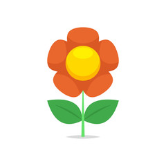 Flower vector isolated