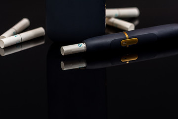 Electronic heating cigarette