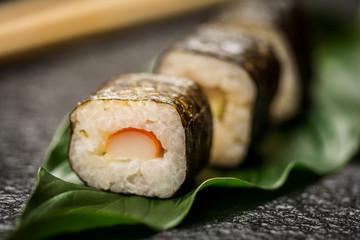 Sushi rolls hosomaki