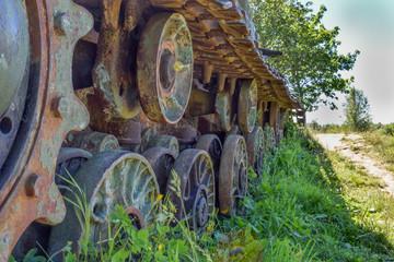 old tank tracks
