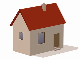 illustration of a house. vector drawing