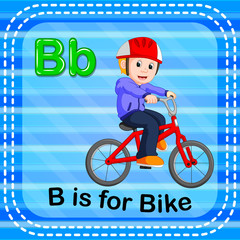 Flashcard letter B is for bike