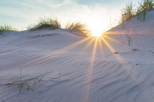 Sonnenuntergang in den Ostseedünen