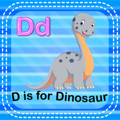 Flashcard letter D is for dinosaur