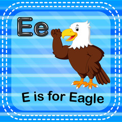 Flashcard letter E is for eagle