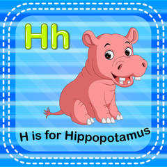 Flashcard letter H is for hippo