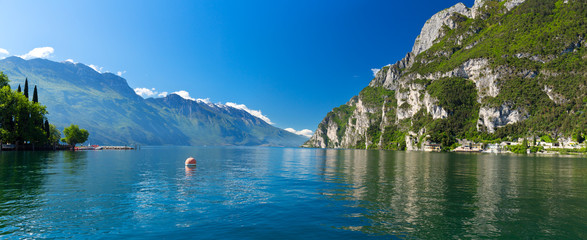 Summer view over of lake Garda in Italy