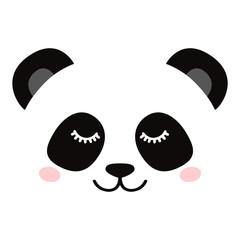 Sleepy panda face