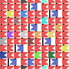 colored flags, vector seamless texture