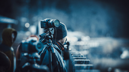 風景撮影 三脚と一眼レフカメラ