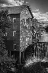 Old Mill in Black and White