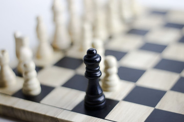 Focus on the chess queen