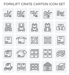forklift crate carton