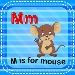 Flashcard letter M is for mouse