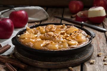 Homemade apple pie Tarte Tatin
