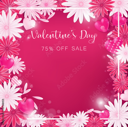 Valentine floral invitation is decorate in red and pink color as valentine floral invitation is decorate in red and pink color as flower blooming border is pearl pink along with petals are dropped on beside usage in stopboris Gallery