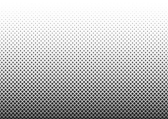 Vertical gradient halftone dots background. Vector illustration.