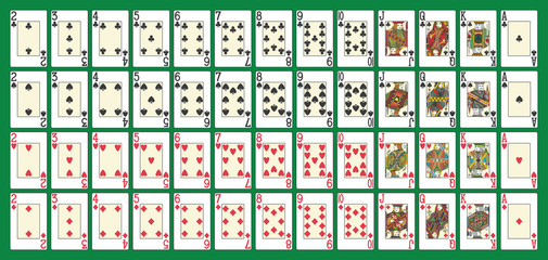 Full poker deck