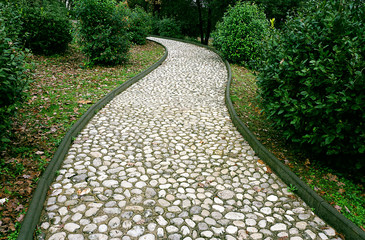 Stone pathway in the park