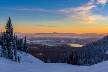 Whitefish Winter Sunset