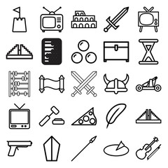 Antique icons. set of 25 editable outline antique icons