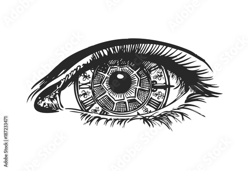 """""""Eye-clock in steampunk style"""" Stock image and royalty ..."""