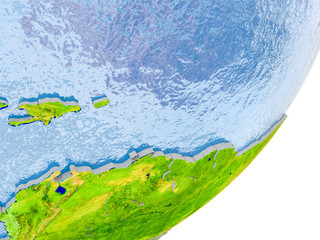Map of Caribbean on Earth