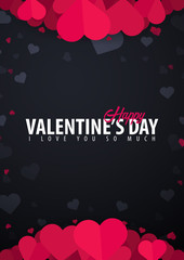 Valentines day sale poster and background. Wallpaper, flyers, invitation, posters, brochure, voucher, banners. Vector illustration.