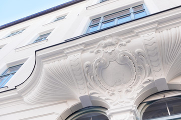 Detail einer Stuckfassade
