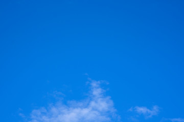 Blue sky clouds background. Beautiful white cloud on blue sky background