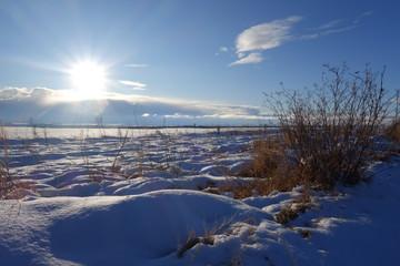Nieve con sol