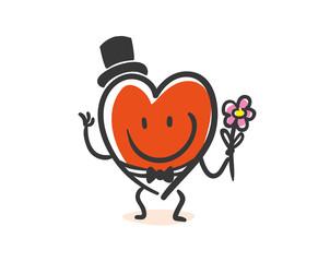 Heart wedding