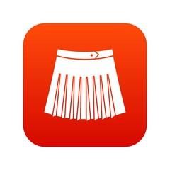 Tennis female skirt icon digital red