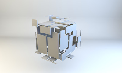 exploding cube, metaphor for thinking out of the box