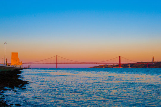 25th of April Bridge (The 25 de Abril Bridge, Ponte 25 de Abril) is a suspension bridge connecting the city of Lisbon, capital of Portugal, to the municipality of Almada