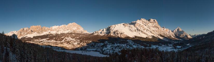 Panorama at dusk, Cortina D'Ampezzo, Italy
