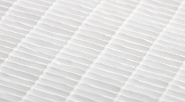 Closeup view on air filter. Filtration concept. High efficiency air filter for HVAC system.