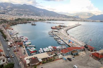 Alanya Port in Antalya, Turkey