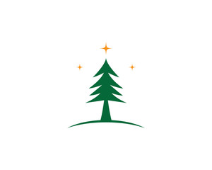 Cedar tree vector icon