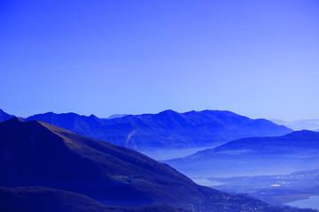 Mountain landscape horizon blue