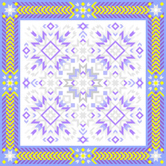 Beautiful ornament for square pillow with Baltic national ornament. Vector image.