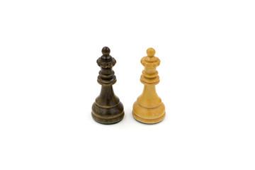 Chess figure on white