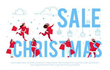 Christmas sale banner template.