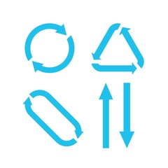 recycle rotation and up and down arrows vector eps10