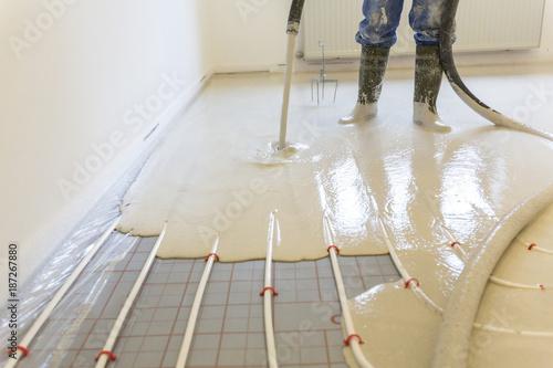 Fußboden Mit Dämmung ~ Hausbau mit innenausbau einbau von dämmung fußbodenheizung und